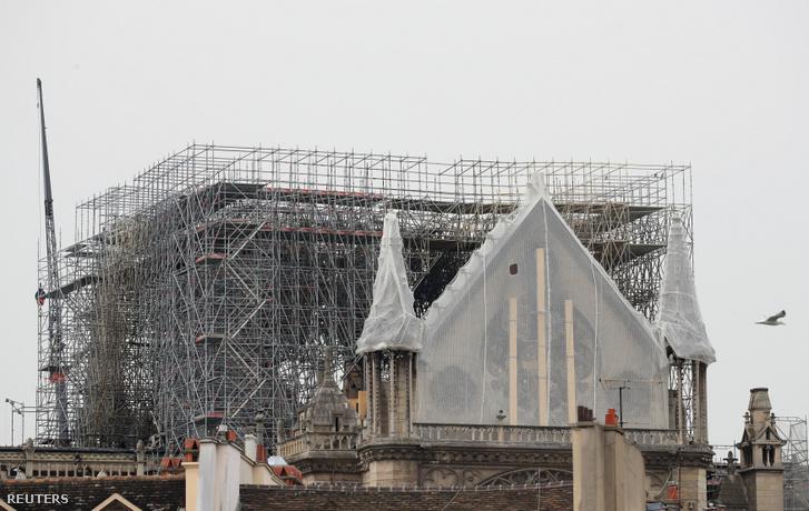 A Notre-Dame katedrális 2019. április 23-án