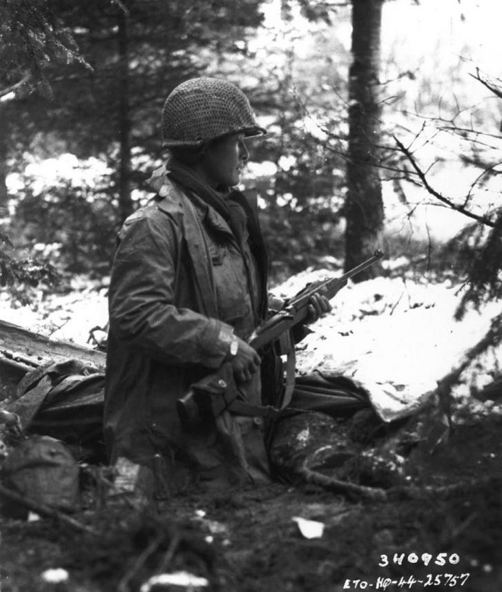 A 442-es ezredharccsoport egyik osztagparancsnoka Franciaországban