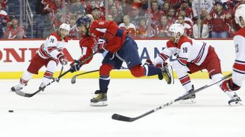 Hiába varázsolt Ovecskin, a Carolina kiverte az NHL címvédőjét