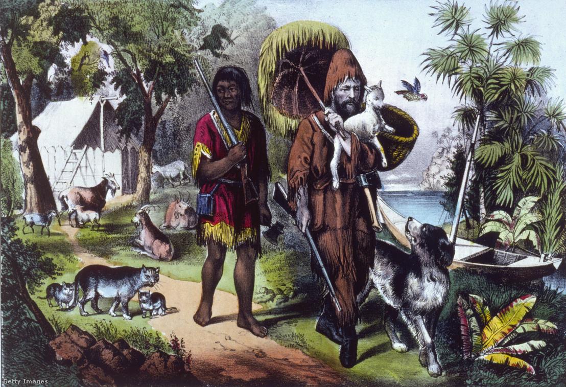 Robinson Crusoe és a Pénteknek keresztelt egykori kannibál