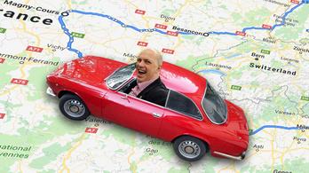 A kis piros Alfa nagy túrája Magny-Cours-ba