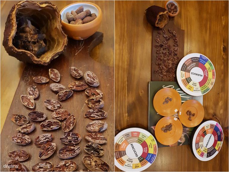 Az El Cacaotal csokoládémúzeumban Peru különböző területeiről származó csokoládékat ízlelgettünk