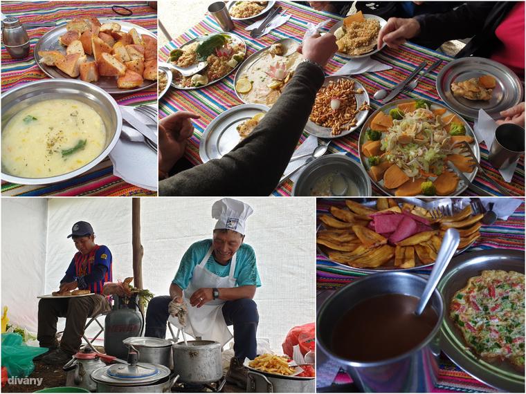 A négynapos inkatúra alatt sem éheztük: kiadós reggeli-, ebéd- és vacsoramenüvel lepett meg minket mindig jó kedélyű szakácsunk, Señor Cirillo