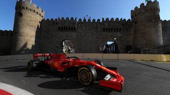 F1: élen a Ferrari a csonka első nap végén