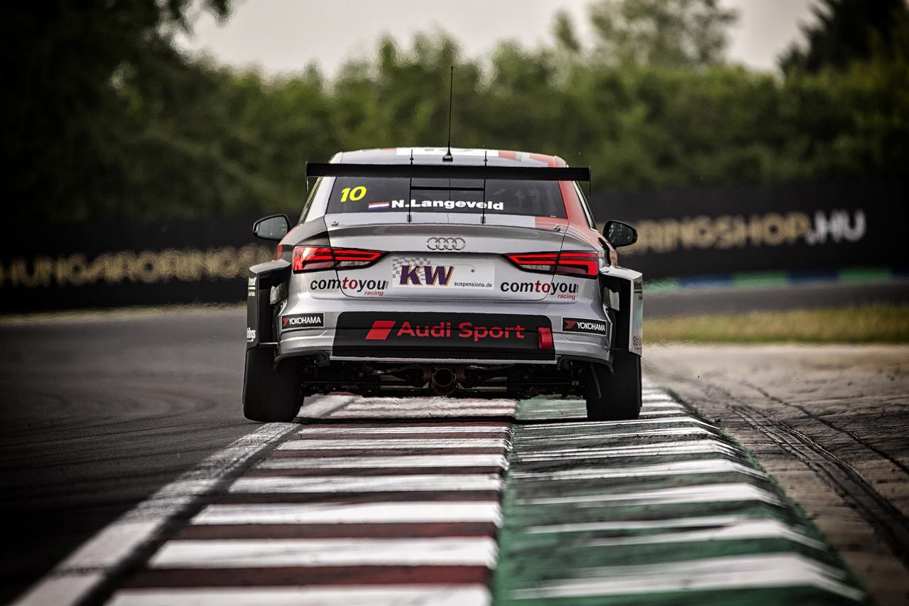 A Mansell kanyar rázóköveit kóstolgatja a Comtoyou Audi holland újonca, Nils Langeveld