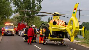 Mentőhelikopterrel vittek kórházba egy életveszélyesen sérült gyereket