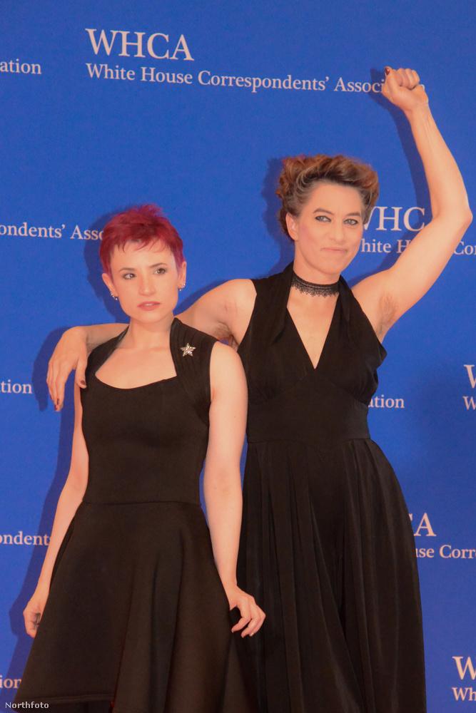 A szombat esti eseményre egy feminista írónővel-újságírónővel ment el, akinek a neve Laurie Penny