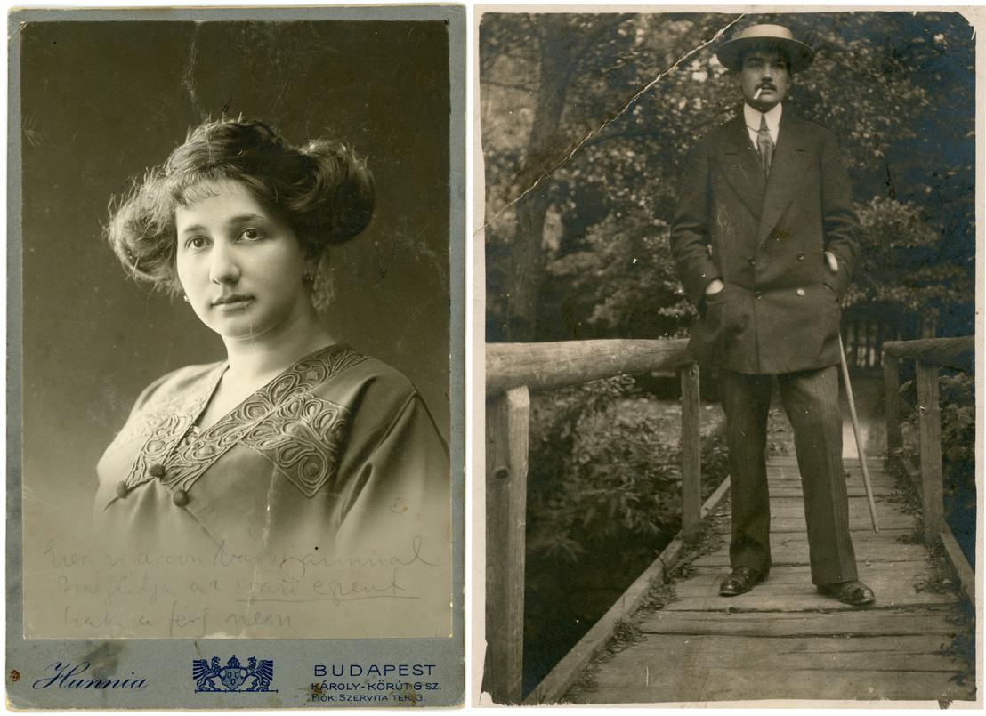 Jónás Olga, Csáth Géza felesége, 1917 / Csáth Géza Stubnyafürdőn, 1912