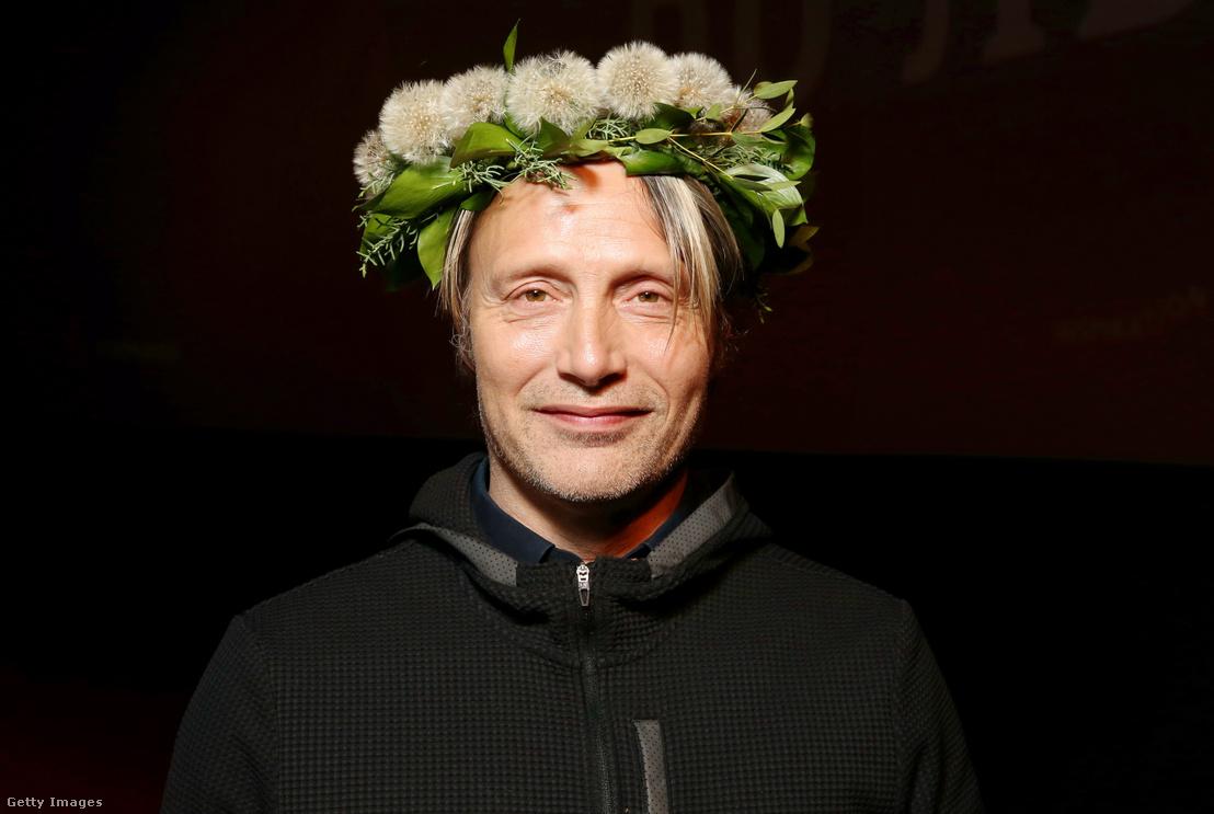 Mads Mikkelsen a Sarkvidék című film moszkvai bemutatóján 2019. február 18-án