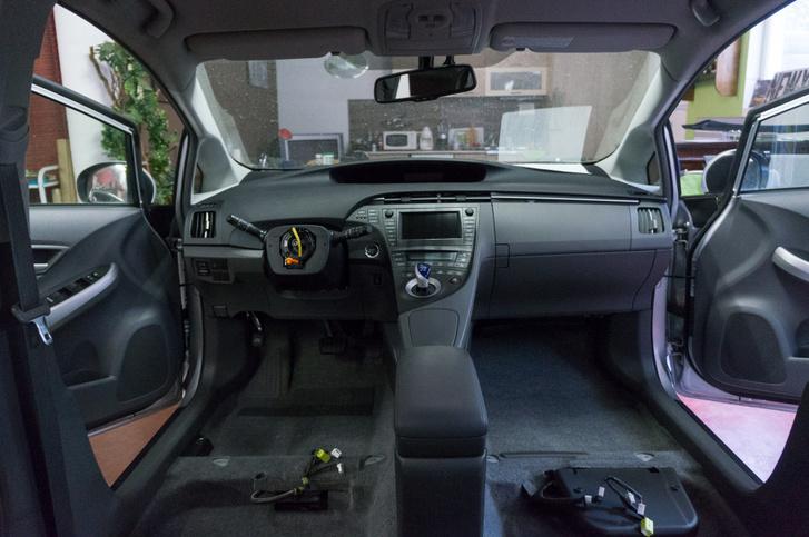 Prius kibelezve, takarítás után