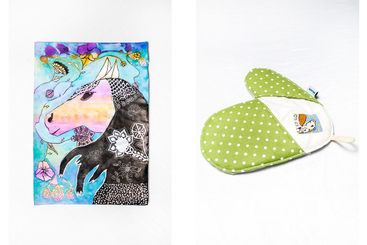 Az Igazgyöngy Alapítvány SZUNO-projektjében a gyerekrajzokon megjelenő mintákat hímzik rá különböző textiltermékekre