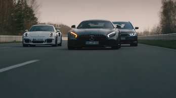 ...és akkor a kombi BMW letolja a GT3 RS-t a belső sávban