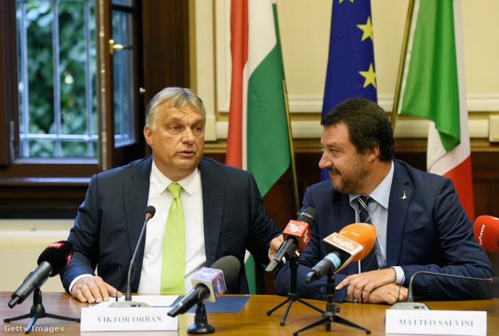 Orbán Viktor és Matteo Salvini Olaszországban 2018. augusztus 28-án.
