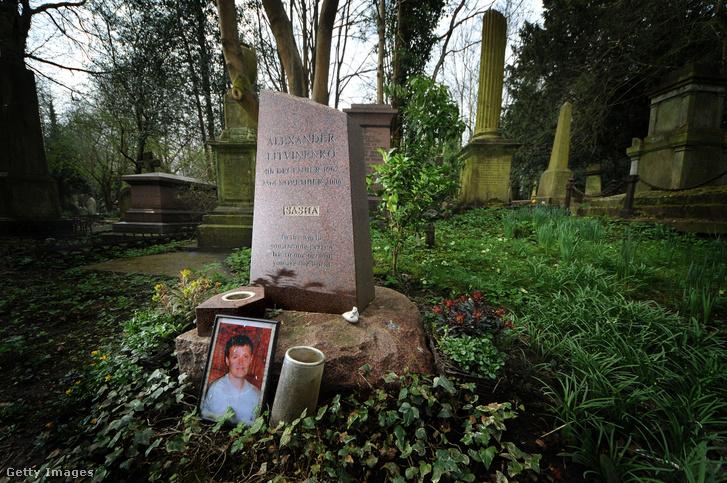 Alekszandr Litvinyenko sírja Londonban.
