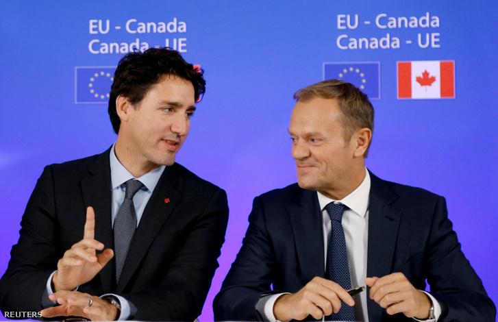Justin Trudeau és Donald Tusk