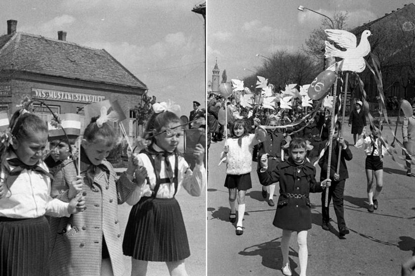Így vonultak a gyerekek május elsején: a hetvenes évek majálisa egész más volt, mint ma
