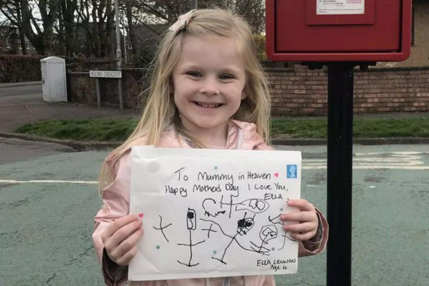 Szívszorító levelet írt anyukájának a Mennyországba: a kislány valakitől választ is kapott