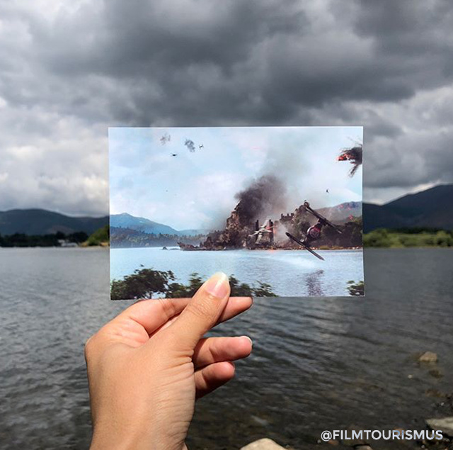 Az ébredő Erő egyik leglátványosabb jelenetét az angliai Derwentwater tónál vették fel, itt csap össze az Első Rend és az Ellenállás, miután Rey megtalálta Luke elveszettnek hitt fénykardját.