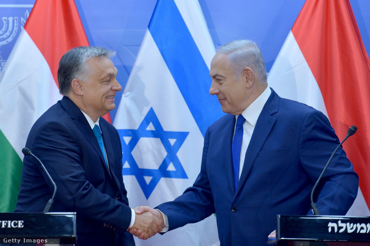 Orbán Viktor és Benjamin Netanjahu