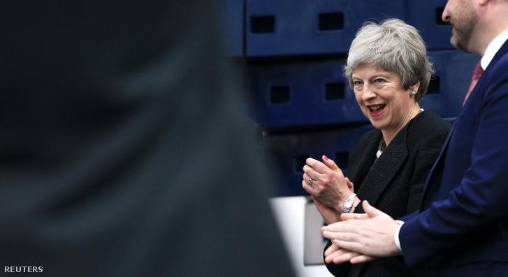 Theresa May 2019. április 25-én.