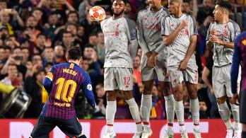 Rövid volt a sorfal, ezt használta ki Messi