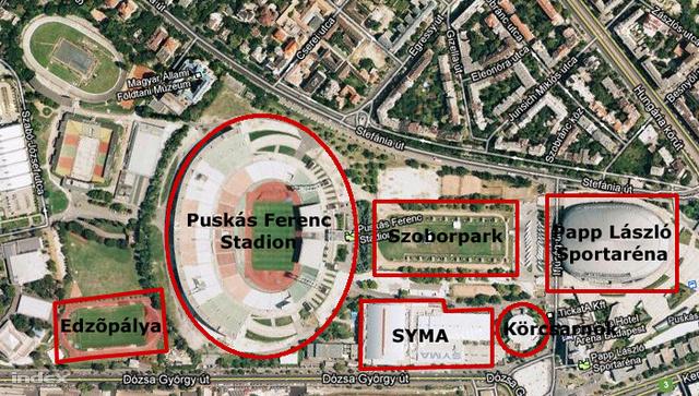 A Puskás Stadion és a Papp László közt lesz az új Puskás