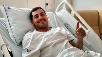 Iker Casillas mázlija, hogy edzésen lett rosszul