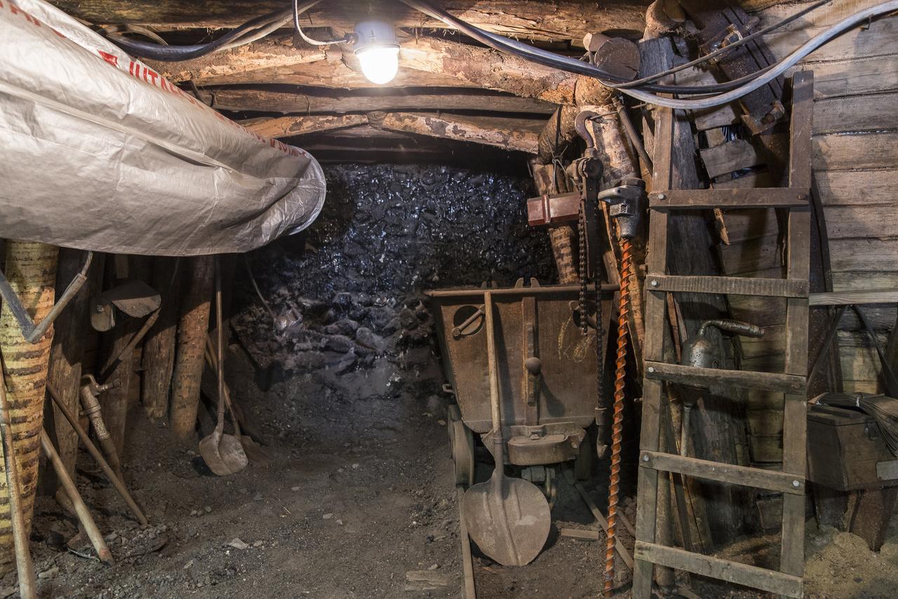 A bezárt bányákat biztonsági okokból fel kellett tölteni, bejáratukat pedig lezárták. A látogatók kedvéért egy mintatárót alakítottak ki a múzeum melletti domb oldalában, amelyben valósághűen imitálják a bányabeli viszonyokat. Itt többek között kiderül az is, hogy mitől szívlapát a szívlapát.