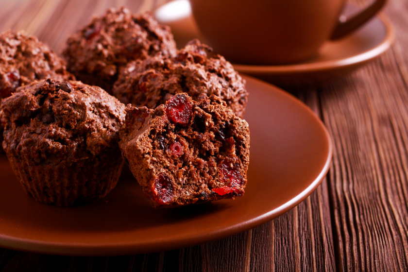 Gluténmentes, csokis-meggyes muffin: nem csak a lisztérzékenyek imádják