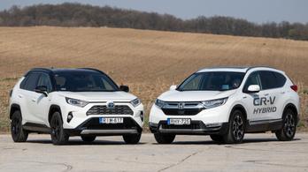 Összehasonlító: Toyota RAV4 Hybrid és Honda CR-V Hybrid AWD - 2019.