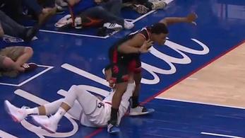 Sunyi felrúgás, herekönyöklés csúfította az NBA-meccset