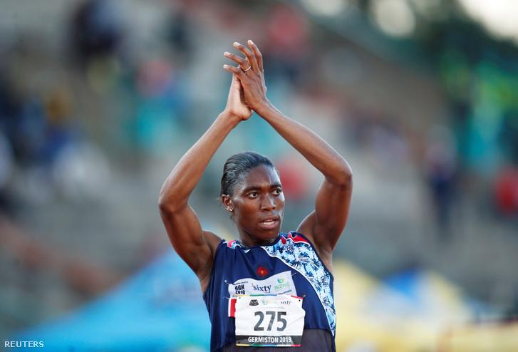 Caster Semenya 5000 méteren nyert a dél-afrikai országos bajnokságon Germistonban 2019. április 24-én