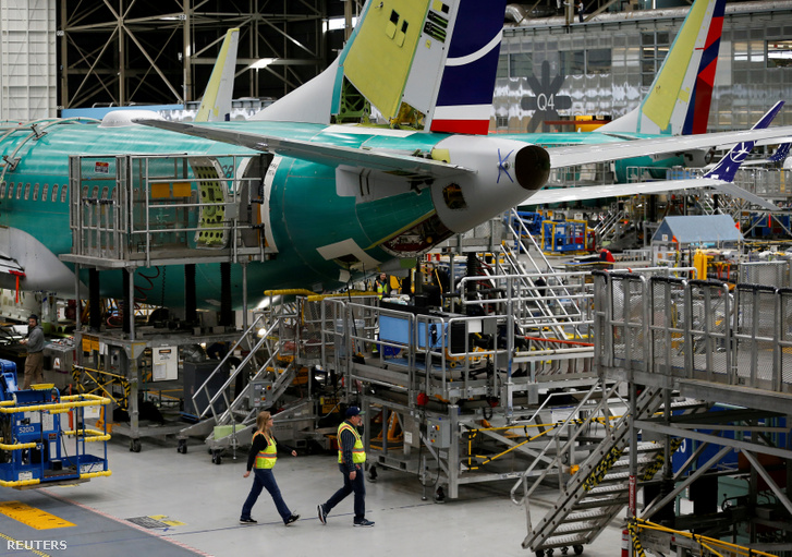Boeing 737 Max repülőgépek a Boeing rentoni üzemében 2019. március 27-én
