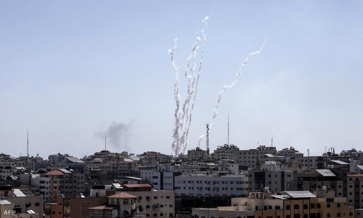 Rakétákat lőttek ki a Gázai övezetből Izrael területére 2019. május 4-én