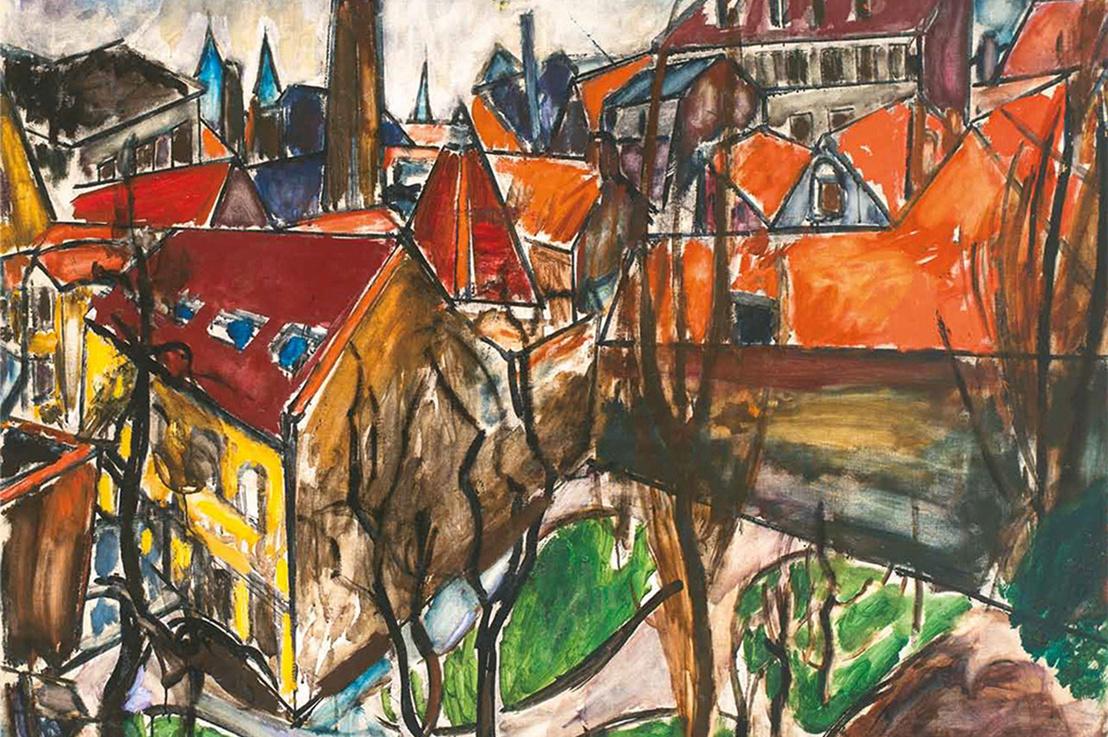 Dénes Valéria: Bruges, 1912-1913. Olaj, vászon; 121x140 cm.