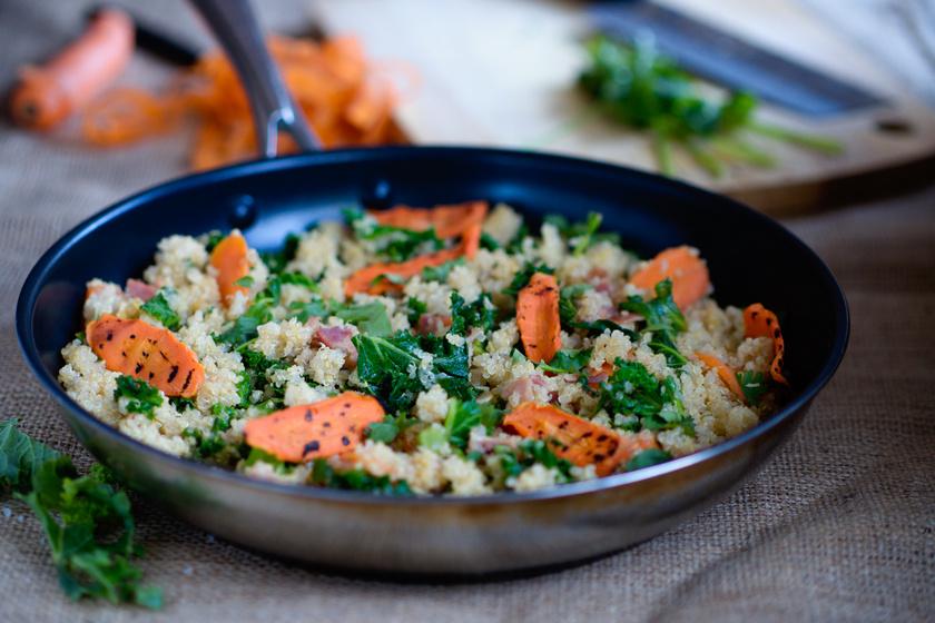 Nemcsak finom és laktató, de nagyon egészséges is: színes, zöldséges quinoasaláta