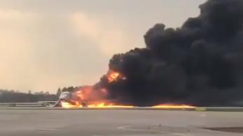 Kigyulladt egy utasszállító Moszkvában, legalább 41 ember meghalt
