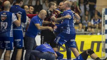 Óriási balhé tört ki a pályán a Szeged-Vardar BL-negyeddöntőben