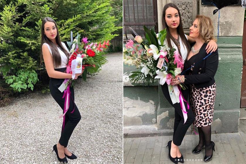 Kiszel Tünde 17 éves lánya, Donatella a hétvégén ballagott el. Gyönyörű volt az ünnepségen.