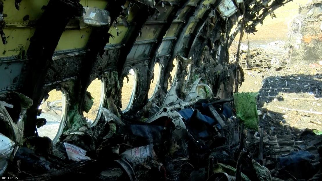 SSJ-100-as utasszállító kiégett utastere 2019. május 6-án