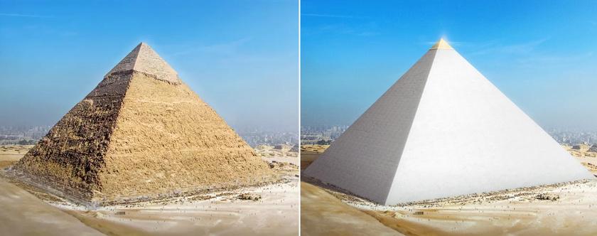 A gízai nagy piramis.