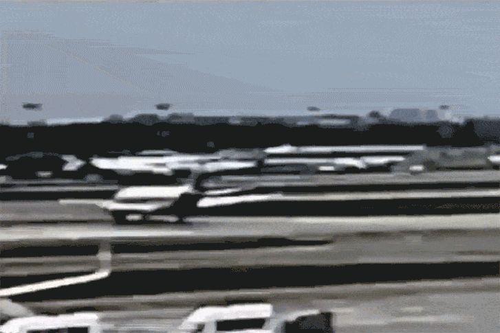 SSJ-100-as repülőgép landolása 2019. május 5-én