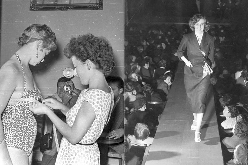Milyen volt modellnek lenni az 50-es években Magyarországon? Ritkán látott fotók a gyönyörű manökenekről