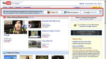 YouTube-os összeesküvés okozta az Internet Explorer vesztét