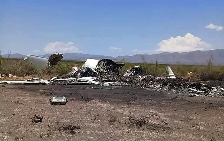 Privát gép roncsai a mexikói Ocampoban 2019. május 6-án
