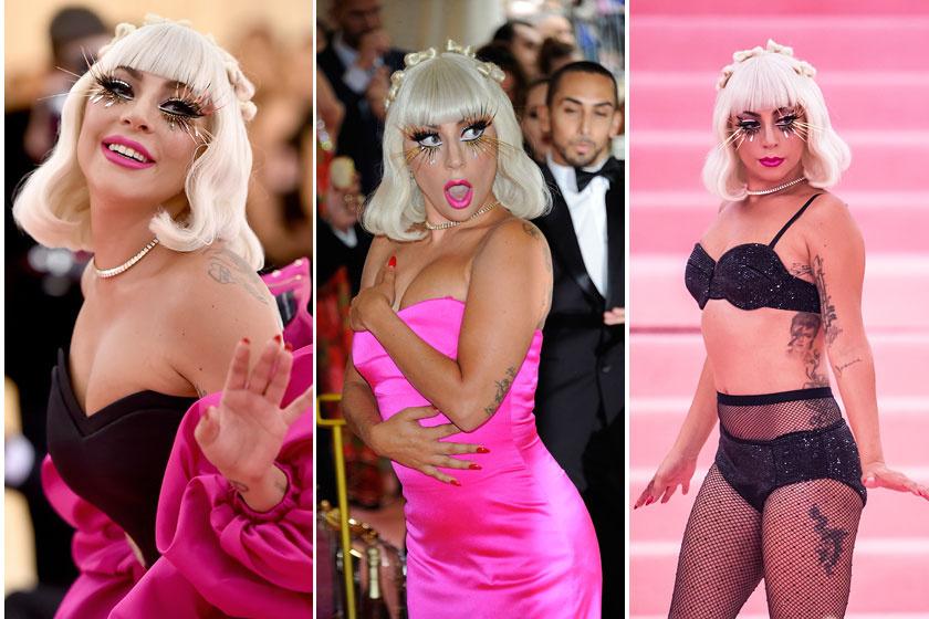 Lady Gaga a MET-gála vörös szőnyegén vetkőzött félmeztelenre.