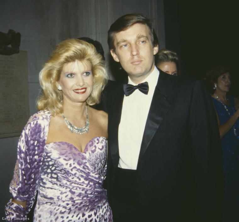 Trump és első felesége, Ivana, az 1985-ös Met-gálán