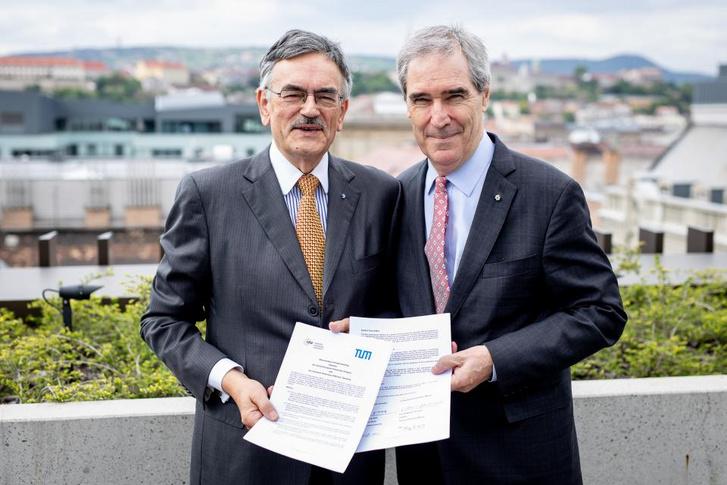 Wolfang A. Herrmann és Michael Ignatieff
