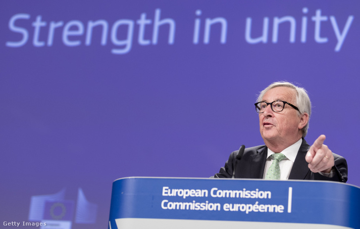 Jean-Claude Juncker, az Európai Bizottság elnöke a testület hetenkénti ülésén Brüsszelben 2019. május 7-én.