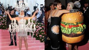 Met-gála besztof: Katy Perry csillárból hamburgerré változott